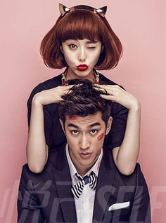 Chinese actress Fan Bingbing is sporting some sex-kitten symbolism – kitten ears and Mickey Mouse Couple Photography, Wedding Photography, Fan Bingbing, Pre Wedding Photoshoot, Fashion Couple, Chinese Actress, Poses, Couple Shoot, Beautiful Person