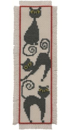 Cat Bookmark: Cross stitch (Permin, 05-2103)