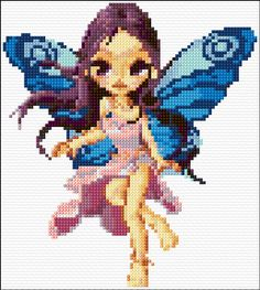 free cross stitch fairy