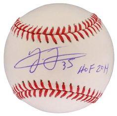 """Frank Thomas White Sox Signed Rawlings MLB Baseball Inscribed """"""""HOF 2014"""""""" JSA"""
