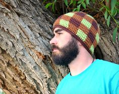 CROCHET HAT PATTERN Adult's Gingham Beanie door PlayinHookyDesigns