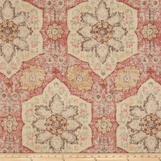 P Kaufmann Toscana Tile Crimson from Screen printed on cotton… Toss Pillows, Accent Pillows, Vinyl Fabric, Wall Fabric, Pillow Fabric, Cotton Fabric, Custom Cushions, Window Coverings, Window Treatments