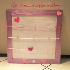 Diy tableau photos p le m le valentin 39 s day pinterest - Cadre photo avec pince linge ...
