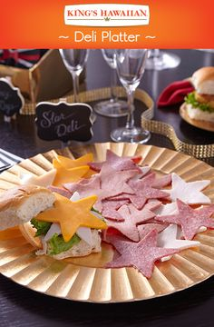 An easy-to-make deli platter is sure to earn its star on the walk of fame at your awards-themed party.