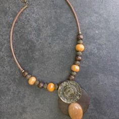 "Collier ethnique perles ""anessa"" - pierre semi-précieuses…"