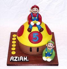 Mario and Luigi SuperMario birthday cake by EvaRose Cakes