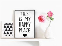 Bild Happy Place Illustration Print Blogger Poster