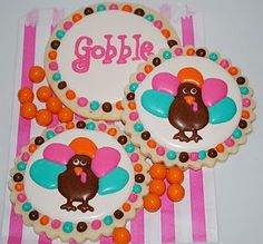 turkey cookies...