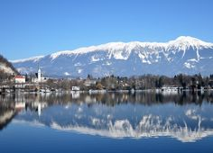 View of Bled from the lake