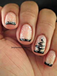 Easy but joyful christmas nails art ideas you will totally love 38