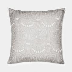 Lennol | ODELIA Ornamental design patterned cushion, light grey, beige
