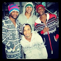 JB Gill, Marvin Humes, Oritsé Williams, and Aston Merrygold :: LOL JLS proving real men wear onesies