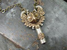Upcycled+Key+Jewelry++Owl+Head+Steampunk+Style+by+thekeyofa,+$45.00