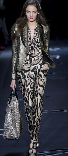 Diane Von Furstenberg Fall 2013 | this play on leopard print is everything!