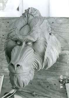 MANDRILL HEAD, ART PIECE