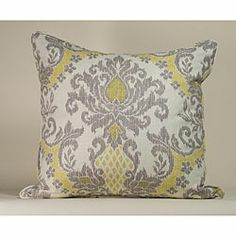 @Overstock.com - IKAT White/ Yellow Decorative Pillow - Dress up your decor with this decorative IKAT pillow. Crafted by artisans in the United States, this soft pillow features a white and yellow pattern.  http://www.overstock.com/Main-Street-Revolution/IKAT-White-Yellow-Decorative-Pillow/5479312/product.html?CID=214117 $67.79