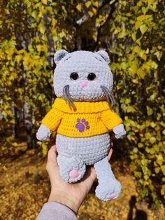 CROCHET CAT PATTERN - Amigurumi pattern Plush kitten - Crochet animal pattern - Stuff crochet toy pattern