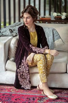 High Fashion Pakistan — Generation, Ottoman Vasli, F/W 2015 Pakistani Party Wear, Pakistani Wedding Outfits, Pakistani Couture, Pakistani Dress Design, Pakistani Dresses, Indian Dresses, Indian Outfits, Stylish Dresses, Fashion Dresses
