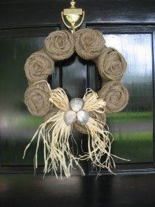 fall burlap wreath!