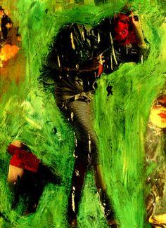 """4-Toulouse Lautrec x Cris Acqua.  Pintura Mixta Collage. 30x21 cm.  HOMENAJE :""""Mi amor por este genial pintor...dueño de los trazos más libres y geniales de la Belle epoque, me han influido totalmente en mi camino por el arte..."""" (Cris Acqua)  http://www.crisacqua.com"""