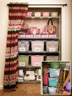 How to Create an Organized Craft Closet