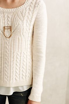 cabled ella pullover / anthropologie