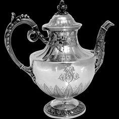 French Sterling Silver Tea or Coffee Pot Louis XVI pattern
