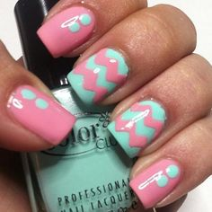 Mint & Pink Chevron