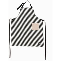 Black Stripe Apron design by Ferm Living (295 CNY) ❤ liked on Polyvore featuring home, kitchen & dining, aprons, cook apron, ferm living and pocket apron