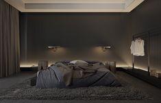 Bedroom:Black Bedroom Ideas Inspiration For Master Designs Dark Shocking Picture Design Grey Paint Color Furniture What 97 Shocking Dark Bedroom Picture Design Black Bedroom Design, Modern Bedroom Decor, Bedroom Black, Master Bedroom Design, Contemporary Bedroom, Home Bedroom, Bedroom Ideas, Bedroom Designs, Black Bedrooms