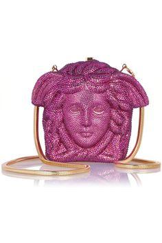 Versace|Medusa crystal-embellished shoulder bag |NET-A-PORTER.COM
