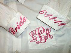 Ladies Monogrammed Big Shirt by Blumers Embroidery www.etsy.com/shop/BlumersEmbroidery www.facebook.com/BlumersOfTexas