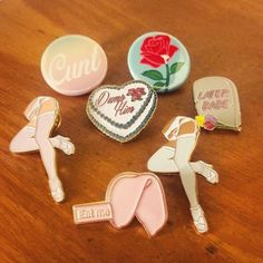 When your badge game is strooooooooong! #cunt #lossofinnocence #sexyleg #dumphim #laterbabe #eatme http://ift.tt/1rgDqFf #badges #pins #art #notsoinnocent #softcore #hiddenmeanings (pins by @snowyellow_ ) by daledela