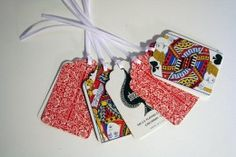 gift tags - with a decorative cut