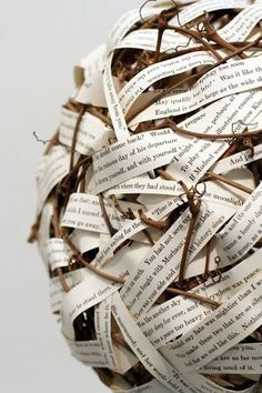 """alaaddinsmagiclamp: """"Poetry - Woven Words"""", a piece by Lynne Bergherm, in The Altered Book Book Arts Show at the Marin Museum of..."""