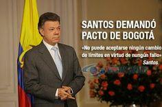 Presidente demandó Pacto de Bogotá ante Corte Constitucional  Reveló además que Ecuador desistió este jueves, ante la CIJ, de la demanda que había interpuesto por las fumigaciones de cultivos ilícitos en la frontera. http://www.noticiascaracol.com/nacion/articulo-304162-presidente-demando-pacto-de-bogota-corte-constitucional