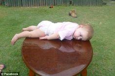 Baby Planking!  HAHAHA! @Faye Marie