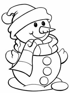 Snowman Coloring Pages Printable Christmas Sheets
