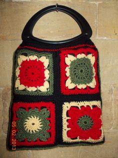 Reverse of crochet bag made by Lynette.