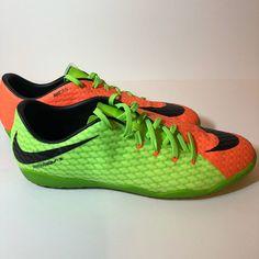 Nike HyperVenomX Phelon 3 IC Indoor Court Soccer Electric Green 11.5