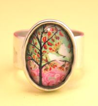 Landscape with Birds Ring from B Bold Jewelry for Boomer Girls on Ruby Lane