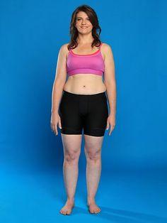 Melanie Ward - 70 kg, 163 cm tall - the average weight for Australian women