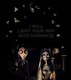 Voy a iluminar tu camino en la oscuridad. Corpse Bride