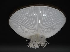 Seaside Ceiling Mount Light | Opal Bowl | Twisted Rope in White | Custom Made by iWorks