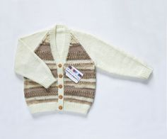 Girls Cardigan  Caramel Cookie. Hand Knit by ACrookedSixpence