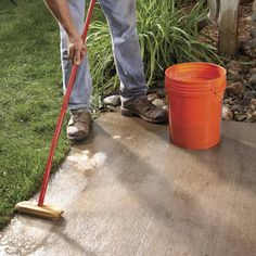 Renew an old concrete patio with decorative brick or concrete pavers. You don't have to remove the concrete.