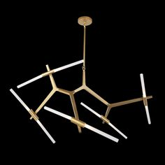 K Light Five Armed Satin Gold Pendant Copper Glass, Gold Glass, Black Glass, Cool Lighting, Pendant Lighting, G9 Led, Light Fittings, Glass Pendants, Gold Pendant