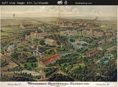Birdseye #Map of the (#Nashville) #Tennessee Exposition (1897) — http://www.bigmapblog.com/2011/birdseye-map-of-the-tennessee-exposition/ — #WorldsFair