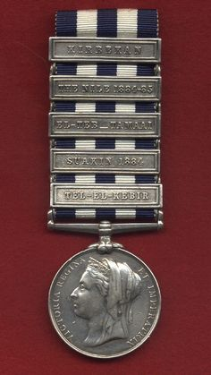 Egypt Medal named to 2511. Pte. Daniel Campbell 1/42 Foot, with clasps: TEL-EL-KEBIR, SUAKIN 1881, EL-TEB-TAMAAI, THE NILE 1884-85  KIRBEKAN. PTE. D. Campbell was a piper in the Black Watch.