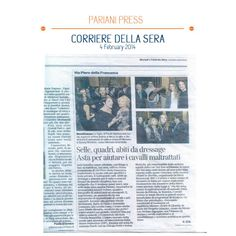 CORRIERE DELLA SERA ON FEB. 4TH, AFTER THE AUCTION TO HELP HORSES OF IHP - ITALIAN HORSE PROTECTION ...